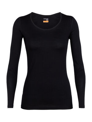 Womens Merino 200 Oasis Long Sleeve Scoop Neck Thermal Top Our versatile 100% merino wool base layer top with a classic scoop-neck design, the 200 Oasis Long Sleeve Scoop combines casual comfort with technical performance.