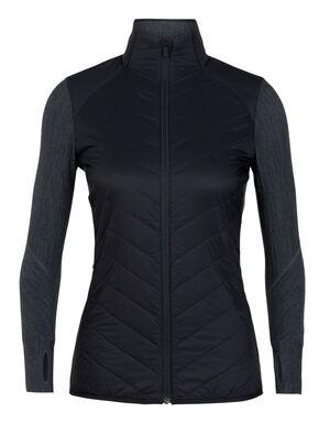 Femme MerinoLOFT™ Descender Hybrid Jacket Couche intermédiaire chaude et technique dotée de l'isolant MerinoLOFT™, le Descender Hybrid Jacket pour femme allie laine mérinos résistante et panneaux isolants.