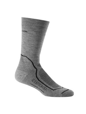 Mens Hike+ Medium Crew Durable, medium cushioned crew-length men's merino wool socks that are stretchy, breathable and odor-resistant, the Hike+ Medium Crew socks feature an anatomical sculpted design for day hikes and backpacking trips.