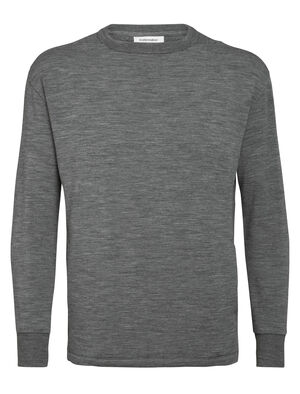 Mens RealFleece® Merino Long Sleeve Crewe Sweatshirt An ultra-comfortable pullover designed for stylish warmth, the RealFLEECE® Hybrid Long Sleeve Crewe combines soft merino RealFLEECE® with a classic sweatshirt silhouette.