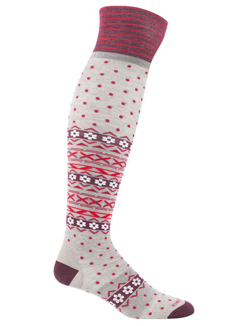 Lifestyle Fine Gauge Over The Knee Sock Dotty
