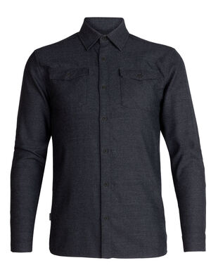 Mens Merino Lodge Long Sleeve Flannel Shirt A long sleeve wool flannel for cold conditions, the Lodge Long Sleeve Flannel Shirt features 100% merino for warmth and style on any winter day.