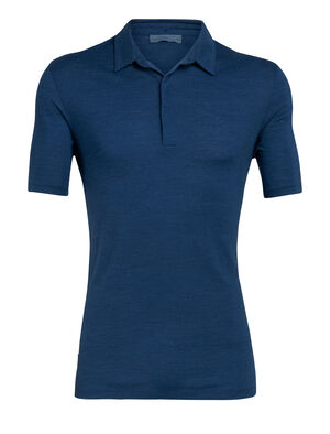 Mens Nature Dye Merino Solace Short Sleeve Polo Shirt A versatile collared shirt for year-round style, the nature dye Solace Short Sleeve Polo features cool-lite™ fabric and is dyed using natural plant pigments.