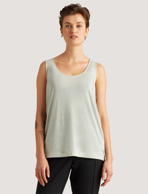Womens icebreaker City Label Cool-Lite™ Merino Vest Top Beat the summer heat in this lightweight and breathable top. The Merino Vest Top combines merino and TENCEL™ fibres for a fresh and breezy fabric that drapes softly against your skin.