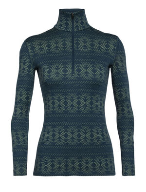 Merino 250 Vertex Long Sleeve Half Zip Thermal Top Crystalline