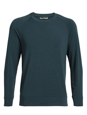 Mens Cool-Lite™ Momentum Long Sleeve Crewe A midweight men's merino wool sweatshirt with our cool-lite™ fabric that uses TENCEL™, the Momentum Long Sleeve Crewe is perfect for cool-weather training.