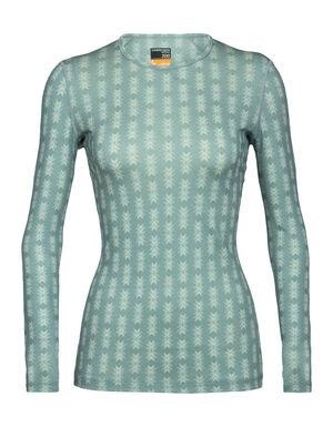 200 Oasis långärmad t-shirt Snow Heritage med rund halsringning