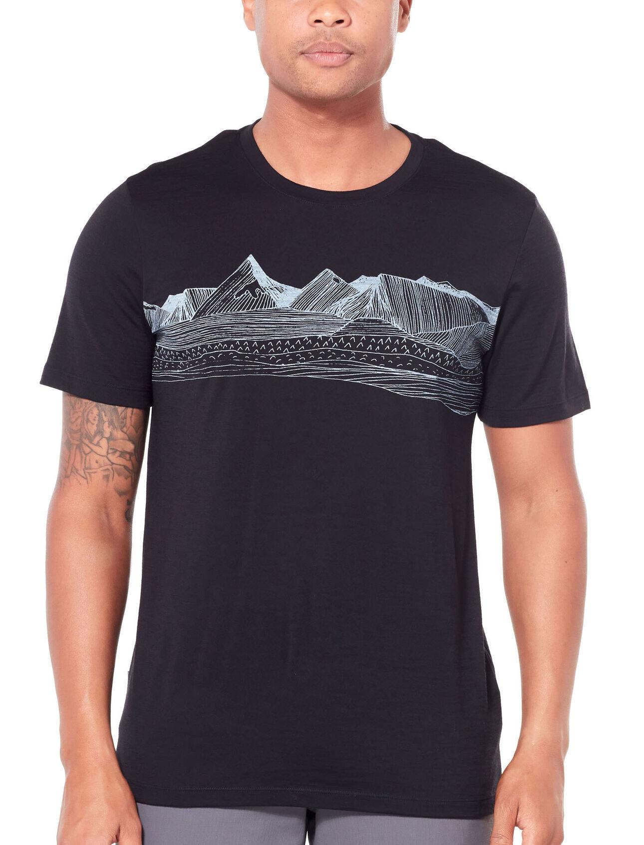 Icebreaker Mens Spector SS Crewe Pyrenees Merino T-Shirt Camiseta Hombre