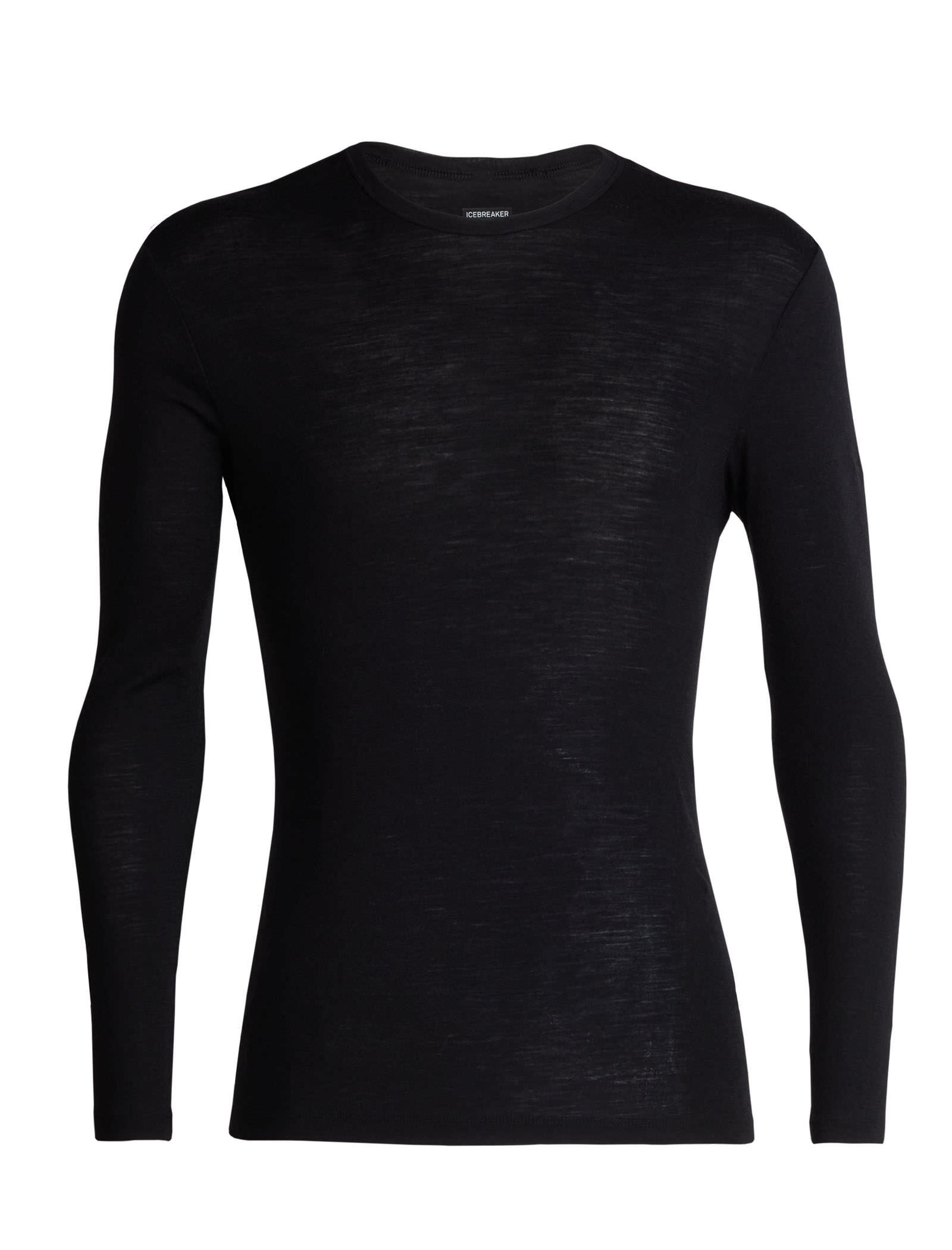 +MD Mens Seamless Wool Crew Neck Long Sleeve T-Shirt Thermal Underwear Shirt Base Layer Top