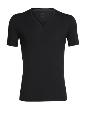 Mens Merino Anatomica Short Sleeve V Neck T-Shirt A soft, stretchy base layer T-shirt for active layering and everyday comfort, the slim-fit Anatomica Short Sleeve V features our ultralight 150gm merino wool corespun fabric.