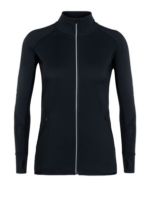 Womens Tech Trainer Hybrid Jacket A technical women's running jacket designed for winter training in cold weather, the Tech Trainer Hybrid Jacket combines a merino wool blend with a hybrid construction that offers the optimal balance of warmth, protection, stretch and breathability.