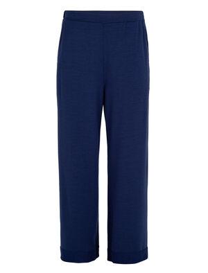 Pantalon à jambe large en mérinos