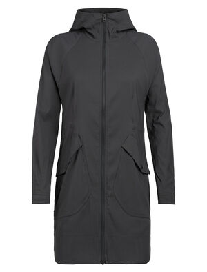 Womens Merino Briar Hooded Zip Parka A casual women's merino wool travel jacket with a durable nylon shell, the Briar Hooded Zip Parka stands up to both the light elements and the ins and outs of travel.