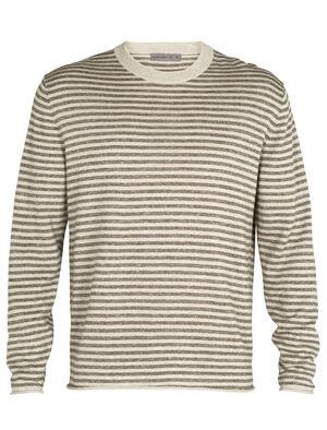 Flaxen långärmad tröja i merino med rund halsringning