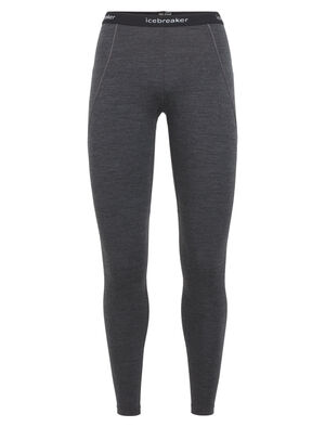 Womens BodyfitZONE™ 260 Zone Leggings Heavyweight women's merino wool base layer bottoms for highly aerobic days in cold weather, the 260 Zone Leggings features zoned ventilation panels for active temperature regulation and ample breathability.