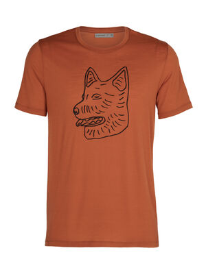 Mens Merino Tech Lite Short Sleeve Crewe T-Shirt Farm Dog Our most versatile merino tech tee, the Tech Lite Short Sleeve Crewe Farm Dog is stretchy, highly breathable, and odor-resistant, with original graphic artwork featuring the iconic herding dogs of New Zealand's merino farms.