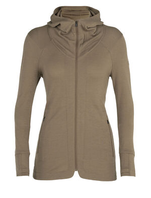 Womens Merino Away II Long Sleeve Zip Hood Jacket A versatile and breathable merino wool mid layer fleece, the Away II Long Sleeve Zip Hood is a warm and odor-resistant jacket for adventures near and far.