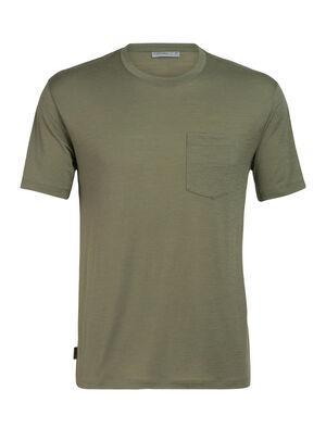 美丽诺羊毛Ravyn短袖圆领T恤(带口袋)