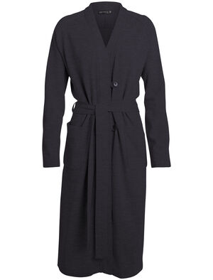 Womens RealFleece® Merino Long Cardigan A timeless women's merino wool button-front sweater, the Real Fleece Long Cardigan is part of the TABI collection, a collaboration with Japanese apparel house Goldwin.