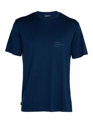 Nature Dye Merino Sisao Short Sleeve Crewe T-Shirt Indigo