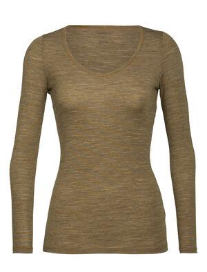 女款 Siren长袖心型上衣 Siren长袖心型上衣采用修身剪裁,以美丽诺羊毛混纺包芯面料制成,实现日常舒适穿着和叠搭选择,是一款柔软而富有弹性的长袖T恤。