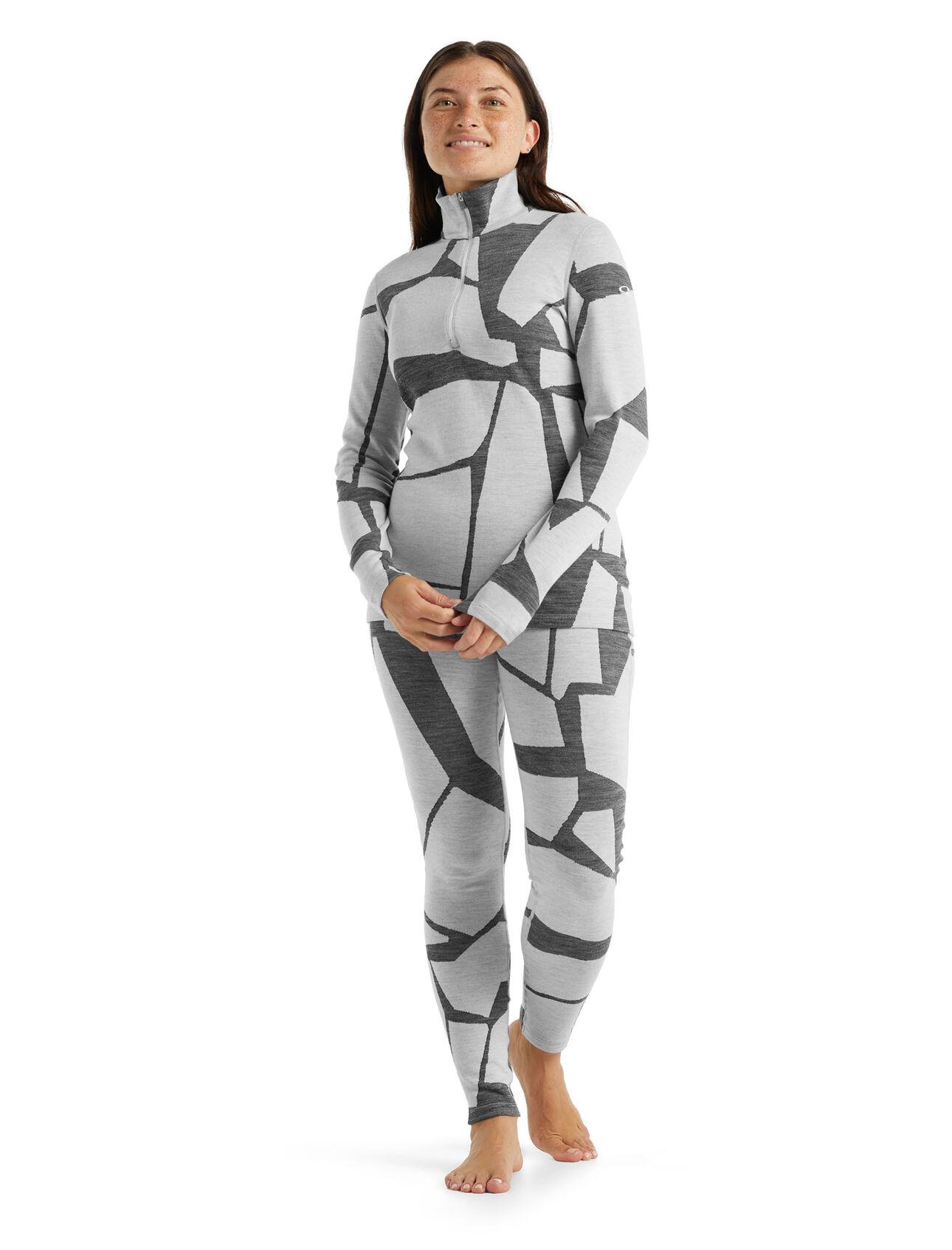 Demi-zip et legging 250 Vertex Fractured Landscapes Femme