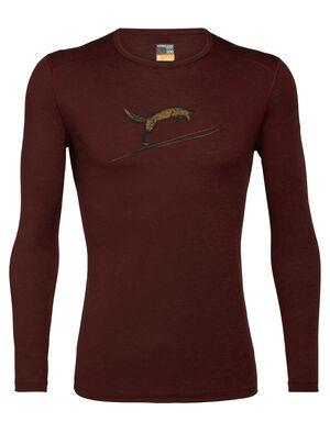 200 Oasis Fox Jump shirt met lange mouwen en ronde hals