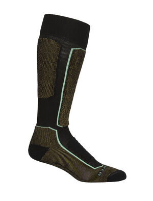 Womens Merino Ski+ Medium Over the Calf Socks Stretchy and supportive merino socks for technical performance on snow, our fully cushioned Ski+ Medium Over the Calf socks are durable, breathable, and comfortable, with anatomical support in key areas.