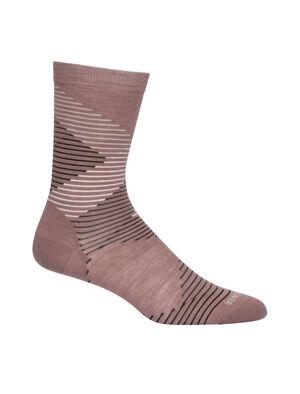 Merino Lifestyle Fine Gauge Crew Socks Dashes