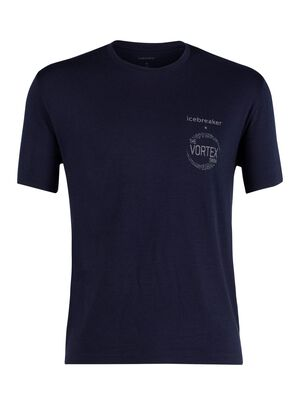 Mens 200 Short Sleeve Crewe The Vortex Swim Wear the official crew tee of The Vortex Swim to help raise awareness of plastic pollution.