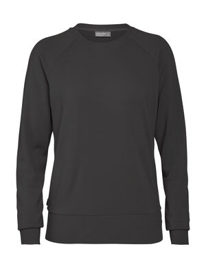 Womens Merino Nature Dye Helliers Long Sleeve Crewe Sweatshirt A classic daily pullover sweatshirt made with our merino wool RealFleece™ fabric, the Nature Dye Helliers Long Sleeve Crewe is dyed with natural plant pigments.