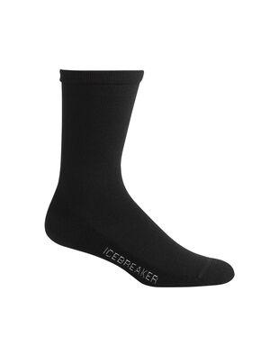 女款 休闲系列轻薄中筒袜 轻盈、柔软、透气的休闲系列轻薄中筒袜令您畅享日常舒适体验,以富有弹性的奢华美丽诺羊毛混纺面料制成,并在脚跟和脚趾采用加厚设计。