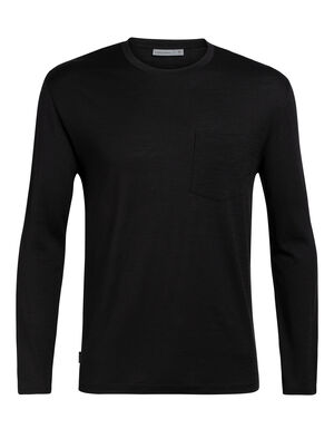 Mens Ravyn Long Sleeve Pocket Crewe A classic mens merino pocket T-shirt ideal for everyday layering comfort, the Ravyn Long Sleeve Pocket Crewe features our jersey corespun fabric.