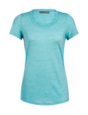 Cool-Lite™ Sphere kortärmad t-shirt i merino med djup halsringning