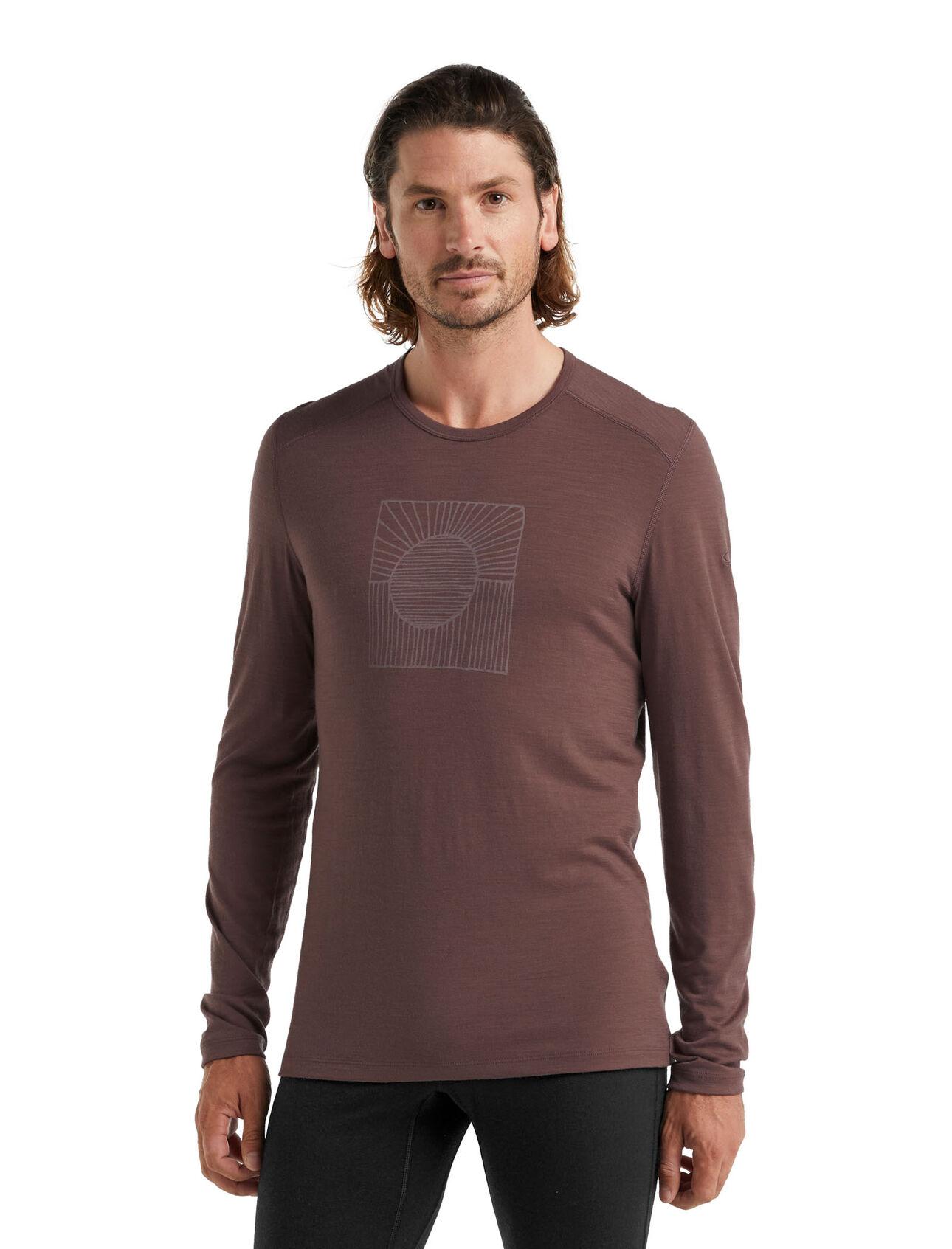 美丽诺羊毛200 Oasis长袖圆领保暖上衣(Solar)