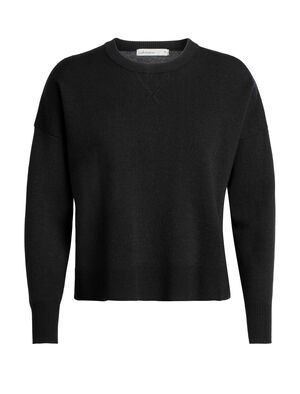 Womens Carrigan Sweater Sweatshirt This heavyweight crew-style pullover features a blend of merino, nylon, and elastane and combines the soft, breathable comfort of a merino wool with the relaxed style of your favorite sweatshirt. This sweater's gentle crop adds volume, shape and an easy-wearing feel.