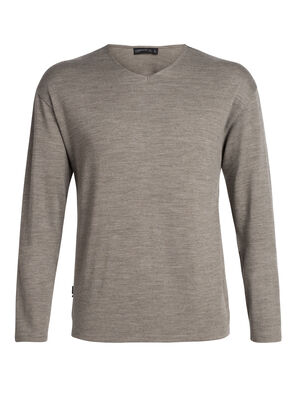 Mens Merino Deice Long Sleeve V Neck Top  A classic midweight sweatshirt made with 100% merino wool jersey, the Deice Long Sleeve Half Zip has essential style and comfort.