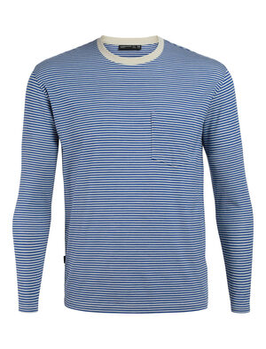 旅 TABI Luxe Lite Long Sleeve Pocket Crewe Stripe