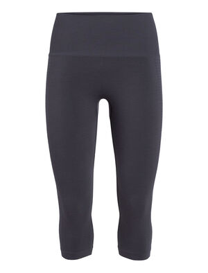 Womens Cool-Lite™ Merino Motion Seamless 3/4 Tights  Form-fitting stretch tights ideal for gym training, the Motion Seamless 3/4 Tights feature an innovative seam-free construction, in our incredibly breathable Cool-Lite™ fabric.