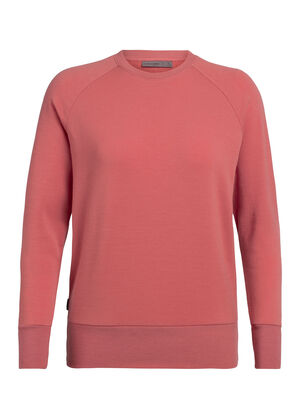 Womens Merino Nature Dye Helliers Long Sleeve Crewe Top  A classic daily pullover sweatshirt made with our merino wool RealFLEECE® fabric, the Nature Dye Helliers Long Sleeve Crewe is dyed with natural plant pigments.