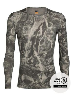 天然印染200 Oasis长袖圆领上衣 Anniversary IB Glacier