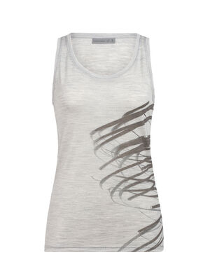 Womens Merino Tech Lite Tank Top Birds In Flight Wear this lightweight merino tank for layering or on its own for everyday comfort. Artist Xavi Bou uses photography to capture the paths of birds in flight.