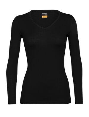 Merino 200 Oasis Langarmshirt mit V-Ausschnitt