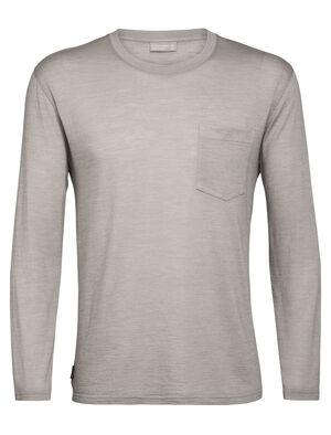 Nature Dye Drayden långärmad t-shirt med ficka och rund halsringning