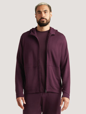 Mens Merino Zip Hoodie The warm and breathable Merino Hoodie is perfect for life on the move - across town or time zones. In soft and naturally odor-resistant merino, it includes concealed zip pockets for safely stowing small items.