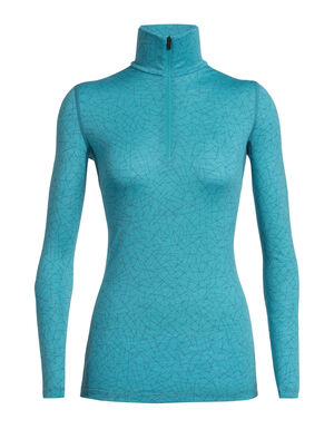 Womens Merino 200 Oasis Long Sleeve Half Zip Sky Paths For casual comfort and technical performance, the 200 Oasis Long Sleeve Half Zip Sky Paths is a versatile merino-wool base layer top with a zip-neck design for style and ventilation.