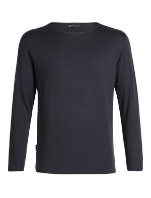Mens Merino Deice Long Sleeve Crewe Designed by Japanese apparel house GOLDWIN and made in collaboration with Icebreaker, the 旅 TABI collection harnesses the natural performance qualities of merino with a refined aesthetic.