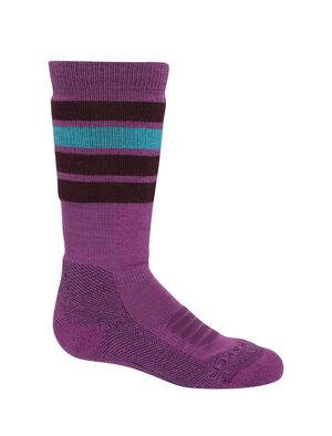 Merino Ski Medium Over the Calf Stripe Socks