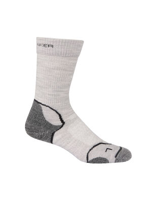 Womens Merino Hike+ Light Crew Socks Lightweight high-performance womens merino wool hiking socks with added stability and support, the Hike+ Light Crew  features a soft and durable merino blend.