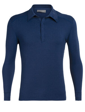 Mens Merino Saige Long Sleeve Rugby Shirt Inspired by the classic rugby shirt and made even better with the natural benefits of merino, the Saige Long Sleeve Rugby is a premium, slim-fit shirt for traveling in style.